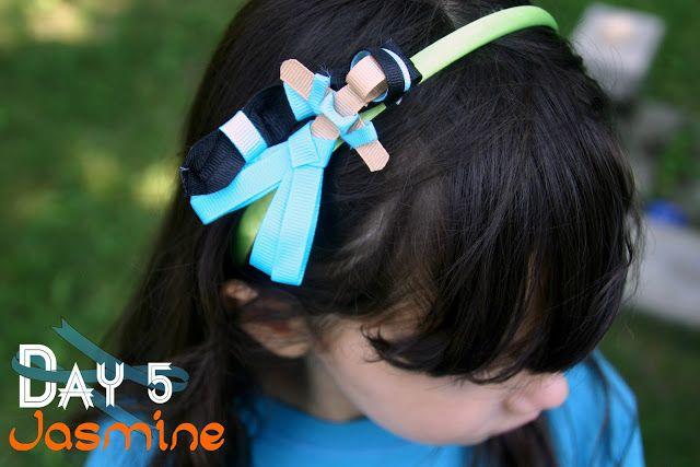 Grosgrain: Day 5: Jasmine Inspired Disney Ribbon Sculpture Pattern