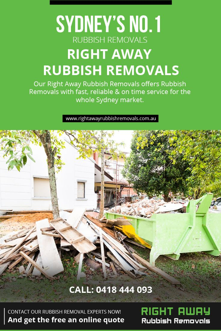 Our Right Away Rubbish Removals offers #Rubbish_Removals with fast, reliable &on time service for the whole Sydney market.