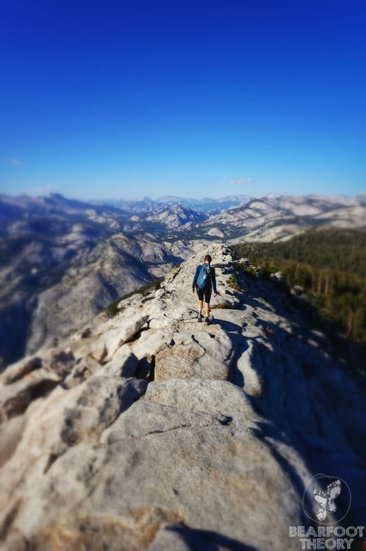 The hike down from the top of Clouds Rest. John Muir Trail.