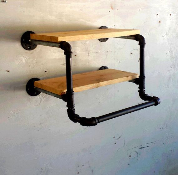 17 inch industrial Clothing Rack and Double by CoronaConceptsCo