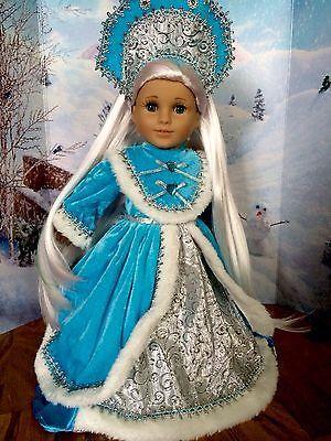 Custom-OOAK-American-Girl-Doll-Frozen-Russian-Princess-Beautiful-H-quality-Hair