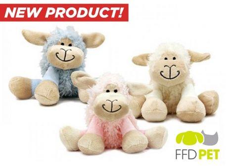 Image of Buy 1 Get 1 Free: Plush Sheep Squeak Toys