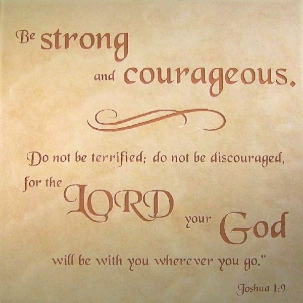 Inspirational Quotes On Pinterest: Joshua 1:9 The Bible Verse, Cursive?
