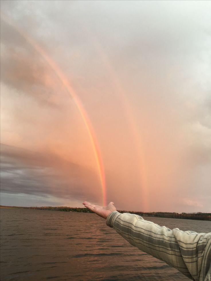 Double rainbow- Lac La Ronge