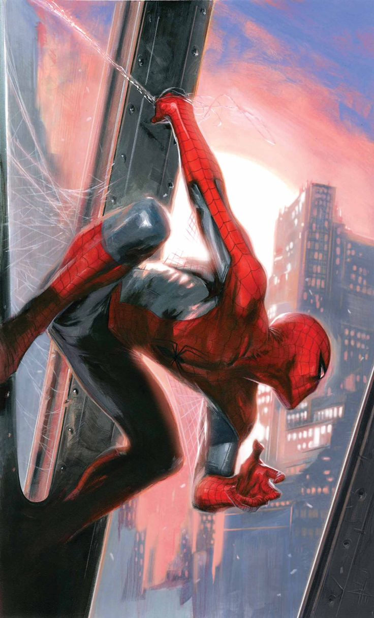#Spiderman #Fan #Art. (AMAZING SPIDER-MAN #17.1 Variant cover) By: Gabriele Dell'Otto. AWESOMENESS!!!. [THANK U 4 PINNING!!]
