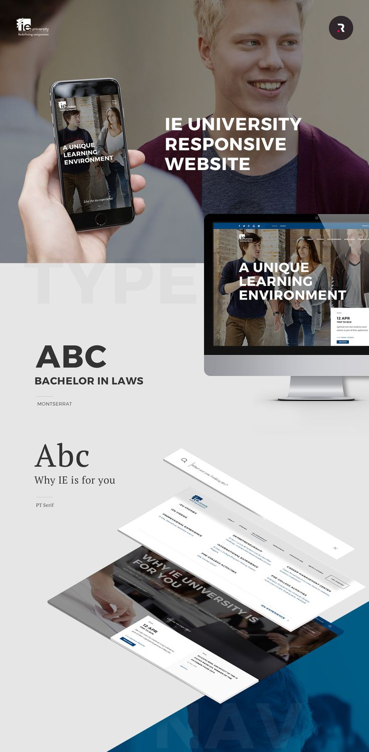 IE University Responsive Website on Behance