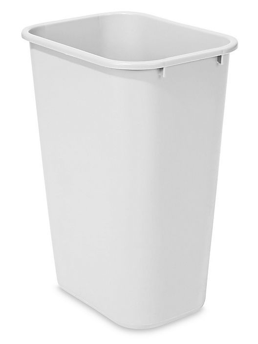 Rubbermaid Office Trash Can 10 Gallon White S 13527w Bathroom