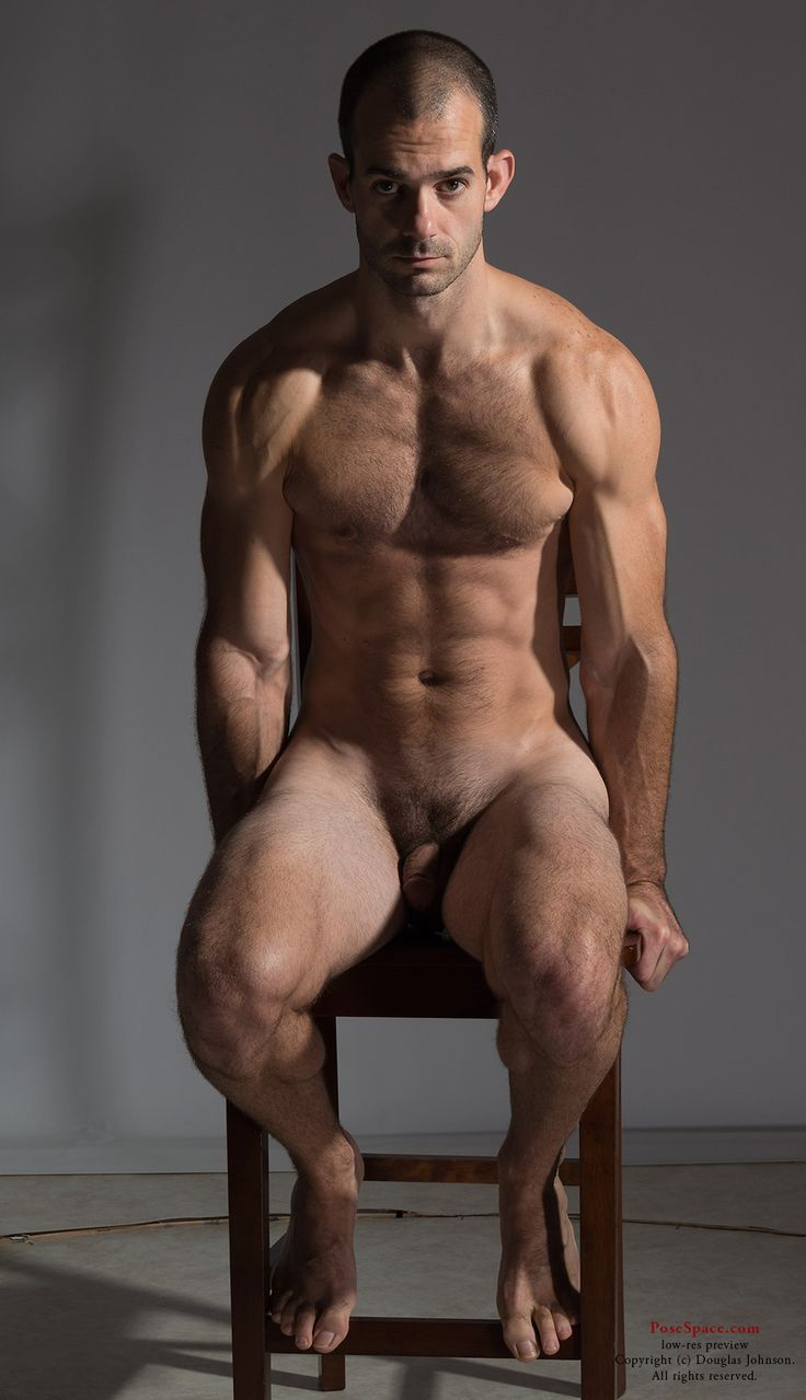 posing Muscle nude men