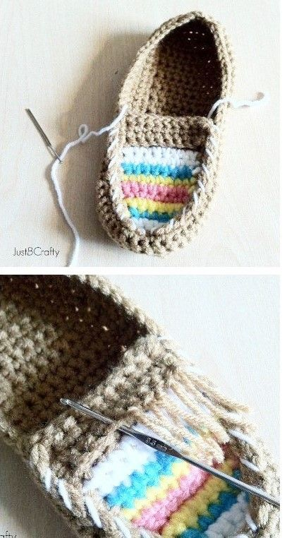 source : pinterest.com/ justscrafty _  collection tricot crochet confection chausson mocassin indien tribal