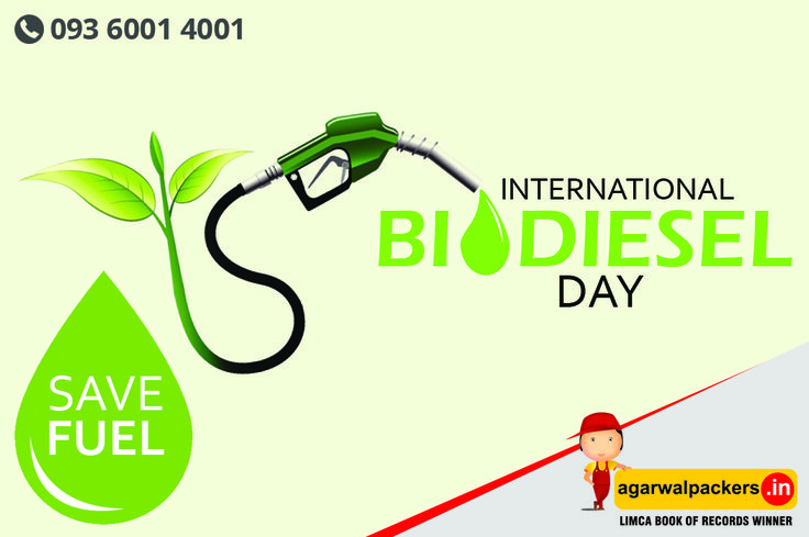 Happy International Biodiesel Day! ‪#‎HappyInternationalBiodieselDay‬ ‪#‎InternationalBiodieselDay‬ our website: http://goo.gl/u7Z5kU  ‪#‎LimcaBookOfRecords‬ ‪#‎LimcaBook‬ ‪#‎AGARWALPACKERSANDMOVERS‬ ‪#‎Agarwal‬ ‪#‎packers‬ ‪#‎movers‬ ‪#‎drsgroup‬ ‪#‎Largestmovers‬ ‪#‎bestpackersandmovers‬ ‪#‎india‬ ‪#‎SafeRelocation‬ ‪#‎Household‬ ‪#‎Transportation‬ ‪#‎Relocation‬ ‪#‎Shifting‬ ‪#‎Residential‬ ‪#‎Offering‬ ‪#‎Householdpackers‬ ‪#‎Bangalore‬ ‪#‎Delhi‬ ‪#‎Mumbai‬ ‪#‎pune‬ ‪#‎hyderabad‬…
