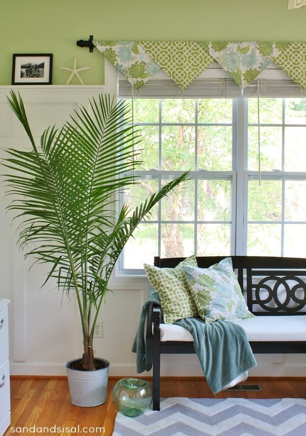 The Easiest No-Sew Window Treatments Ever - Sand and Sisal    I will sew mine up with material that matches my living room!