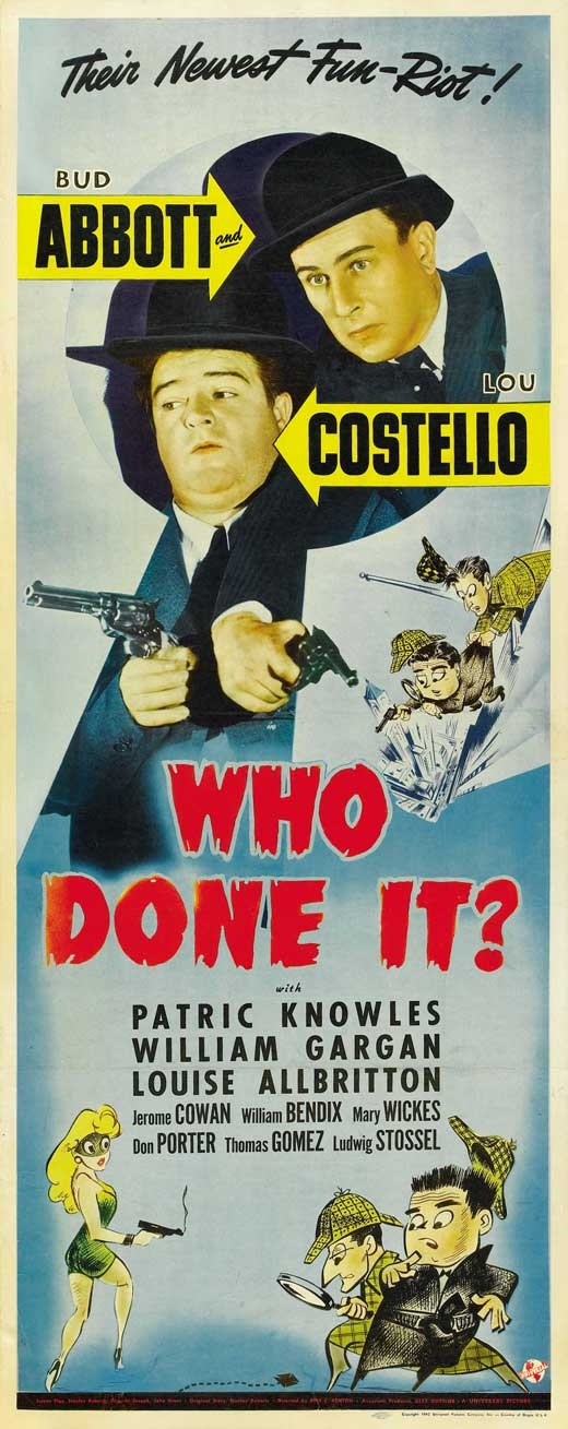 Abbott and Costello in Who Done It? (1942) , with Mary Wickes whos in Little Women with Kirsten Dunst whos in Interview With The Vampire with Brad Pitt whos in Sleepers with Kevin Bacon!