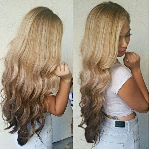 If I were brave enough to dye my hair blond I so would..this is flawless