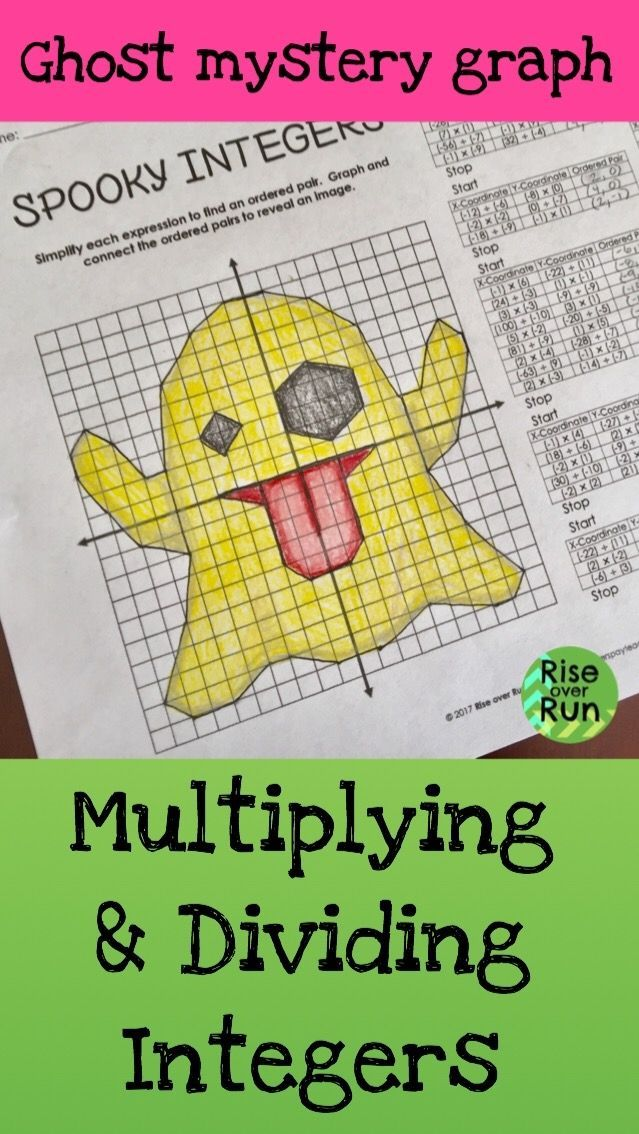 Multiplying And Dividing Integers Practice Mystery Graph Math 6th