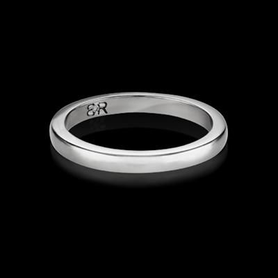 FOR HER - Exemplar wedding band. Available in 18K white gold or platinum. Designed to match perfectly with the Exemplar engagement ring.