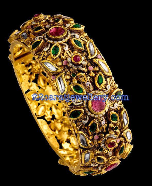 Gold Designer Bangle from TBZ Jewellery | Jewellery Designs