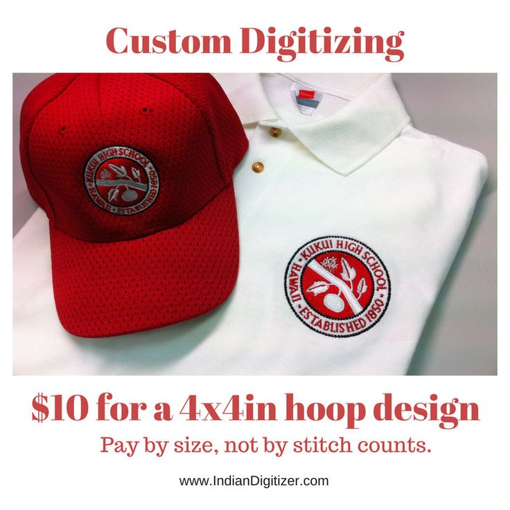 Now selling: Custom Embroidery Digitizing USD10 per design - 4in hoop size - Flat Rate Embroidery Digitizing.   https://www.etsy.com/listing/493029528/custom-embroidery-digitizing-usd10-per?utm_campaign=crowdfire&utm_content=crowdfire&utm_medium=social&utm_source=pinterest