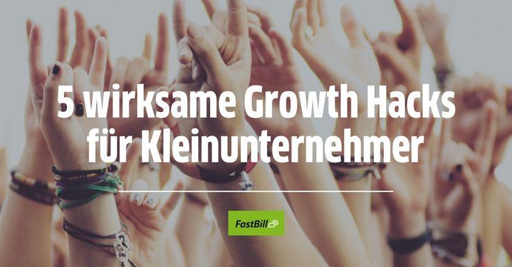 Hier findest du 5 wirksame Growth Hacks, die nicht nur Kleinunternehmern helfen, ihren Kundenstamm aufzubauen und ihrer Marke Auftrieb zu verleihen.