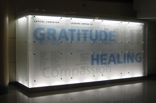 Backlit Donor Wall
