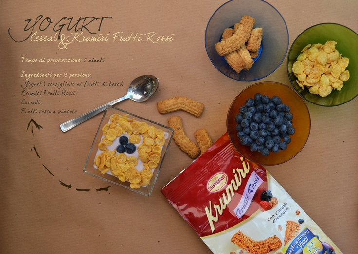 Yogurt, cereale & krumiri Frutti Rossi  #krumiri #bistefani #biscuit #cookies #gruppobistefani