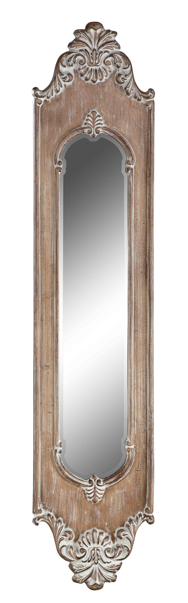 Antique hall mirror long home decor pinterest for Long decorative wall mirrors