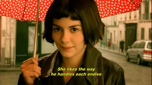 Invest in a giant red patterned umbrella. via @BuzzFeed  Turn your life into Amelie's Life