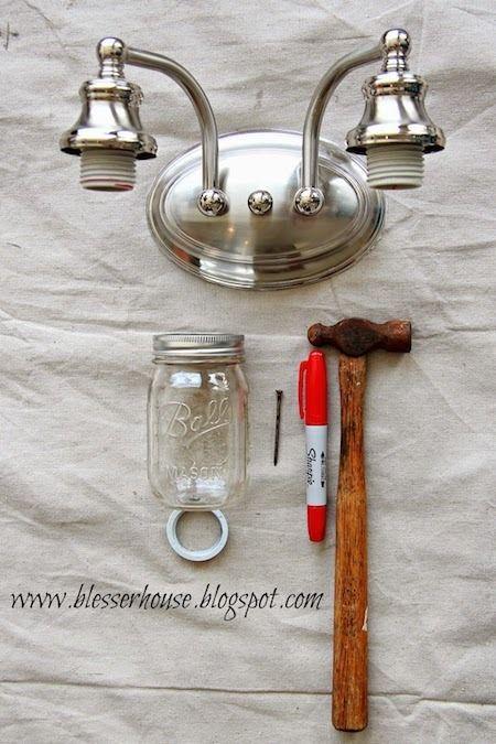 How To: Make a Mason Jar Vanity Light » Curbly | DIY Design Community