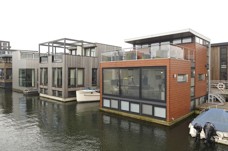 Another section of floating homes in IJburg.