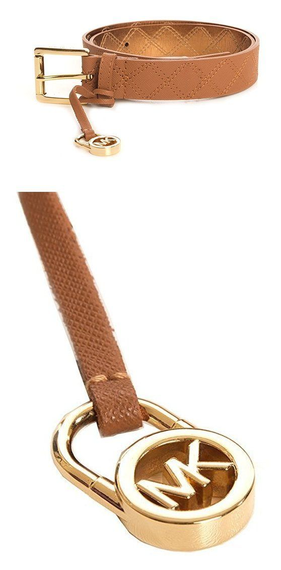 $38 - Michael Kors Women's Quilted Saffiano Leather Charm Belt Luggage #michaelkors
