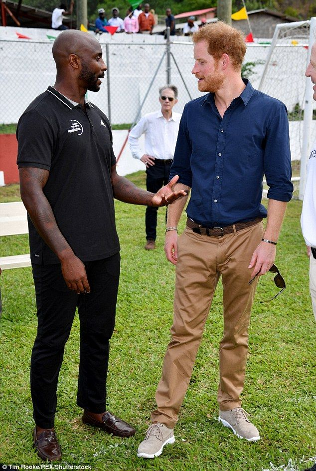 The event gave Harry the chance meet and engage with some of Grenada's sporting stars...