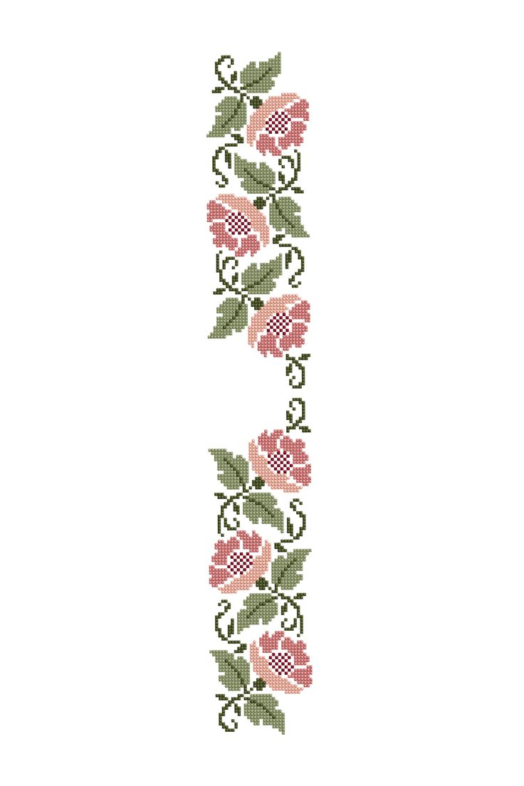 Stencil Floreale - Schema gratis per punto croce da DMC
