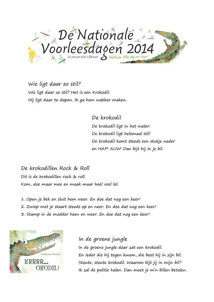 Liedjespagina 'Nationale Voorleesdagen 2014'