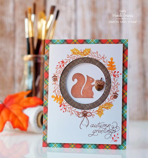 Simon Says Stamp October Card Kit! Project by Wanda Guess. https://www.simonsaysstamp.com/product/Simon-Says-Stamp-Card-Kit-of-The-Month-OCTOBER-2016-Nuts-About-You-CK1016-ck1016?currency=USD