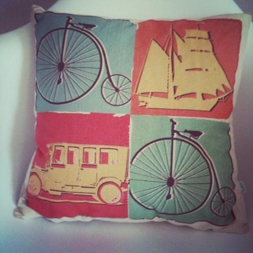organic pillow - vintage mobiles