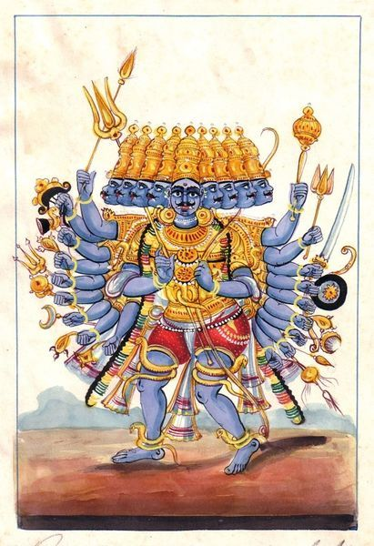 Ravana means has ten heads. 9 sephiroth below 1 Malkuth; the hell realms; the submerged, subconscious mind. Malkuth. Ravana represents our ego, our subconsciousness. Ravana is none other than the sephiroth from Malkuth down:9 circles of hell (described by Dante) plus the physical world. If we want to escape suffering, we need to stop feeding desire, anger, pride, envy, lust gluttony, greed, envy, fear.list goes on. 10 heads have a lot of power, not only inside of ourselves, but in the world.