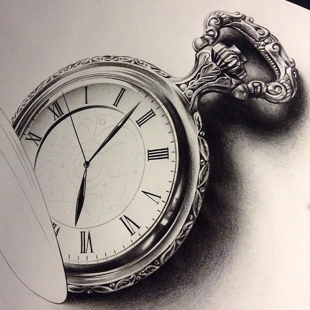 Pocket Watch Drawings: Best 25+ Pocket Watch Drawing Ideas On Pinterest