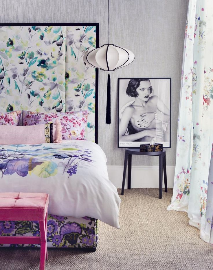 The 42 best images about floral interior ideas on for Eau de nil bedroom ideas