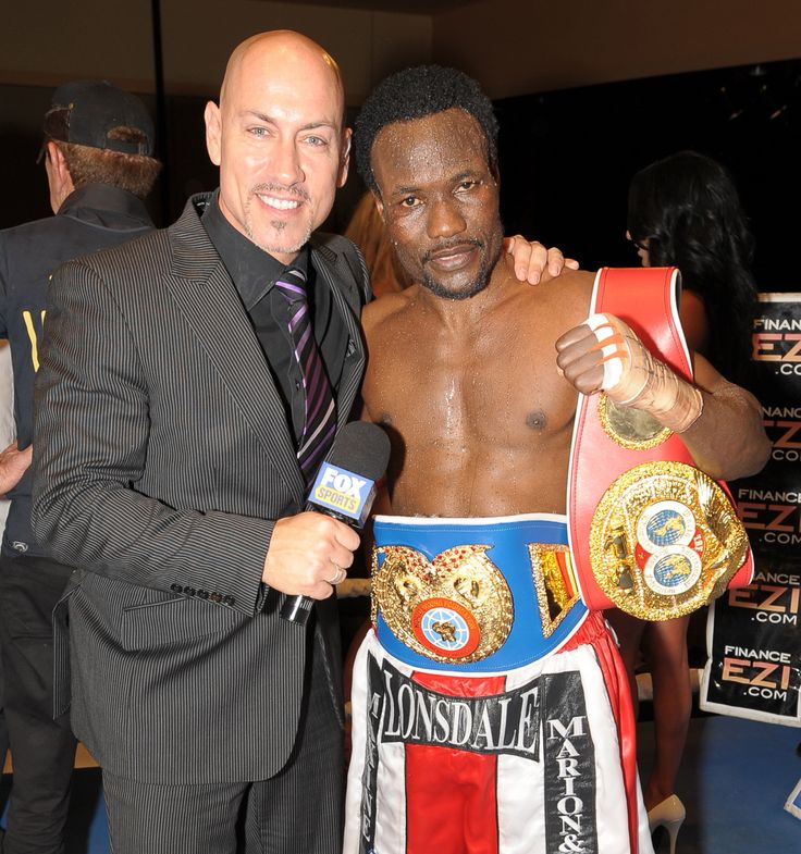 Welterweight boxer Lovemore N'dou after picking up his 2nd world title.