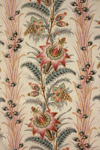 Antique French 19th Century Fabric c1880 Indienne c1880 Printed Material   eBay