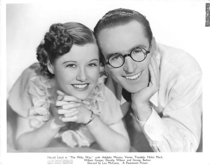 Harold Lloyd and Verree Teasdale