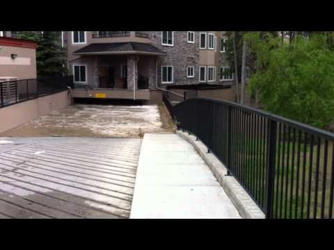 june 30 2013 calgary flood in discovery ridge parking garage