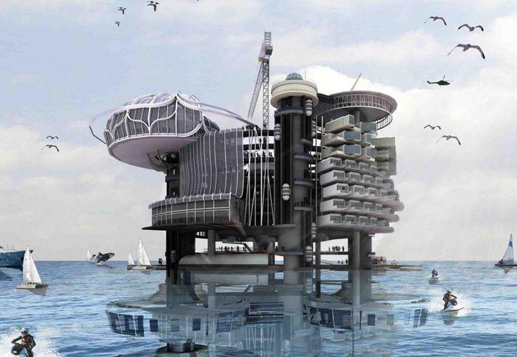 Transforming Abandoned Oil Rigs into Habitable Structures - eVolo   Architecture Magazine #architecture ☮k☮
