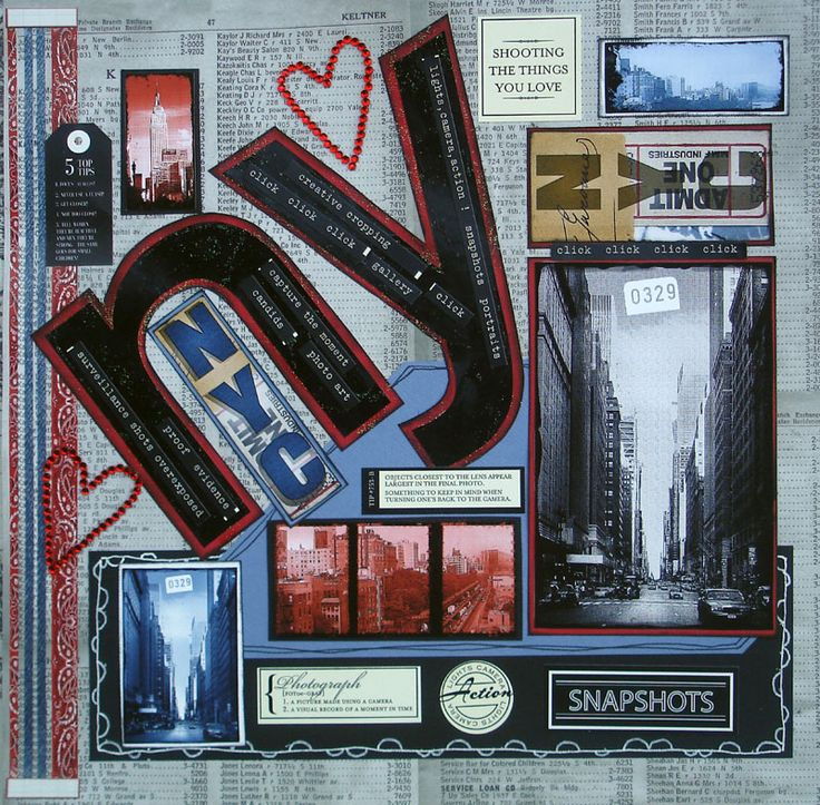 #papercrafting #scrapbook #layout   I love New York - Scrapbook.com