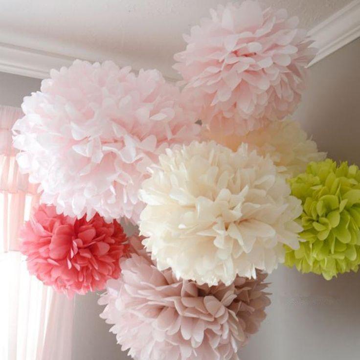Wedding Decoration Pom Pom Tissue Paper Baby Shower Birthday