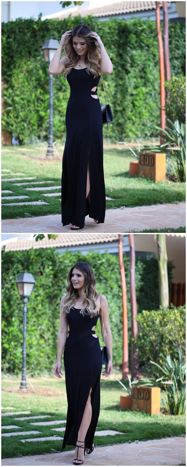 Preto Básico - #DressFesta #VestidoDress #DressPreto #FestaDress