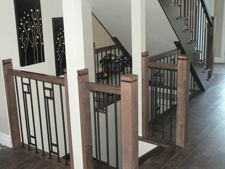 Rampe en bois et métal de style contemporain