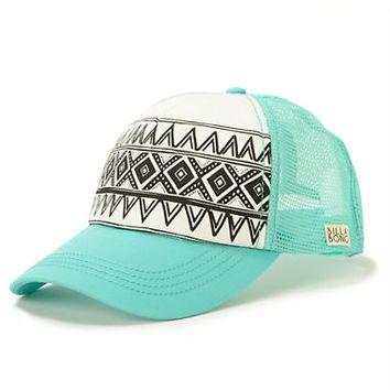 Billabong I Heard Mint Tribal Print Trucker Hat