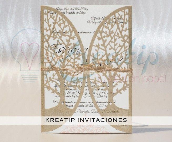 Invitación corte árbol de Kreatip Invitaciones   Fotos