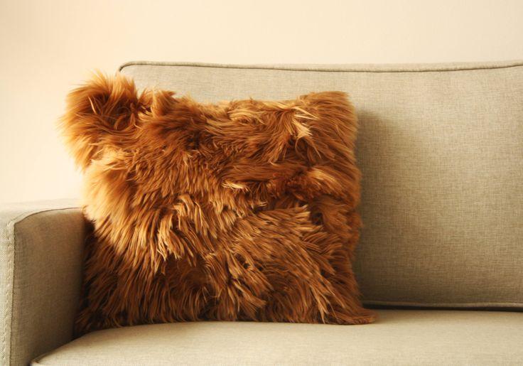 Authentic Alpaca Pillow Fur Pillow Covers Peruvian