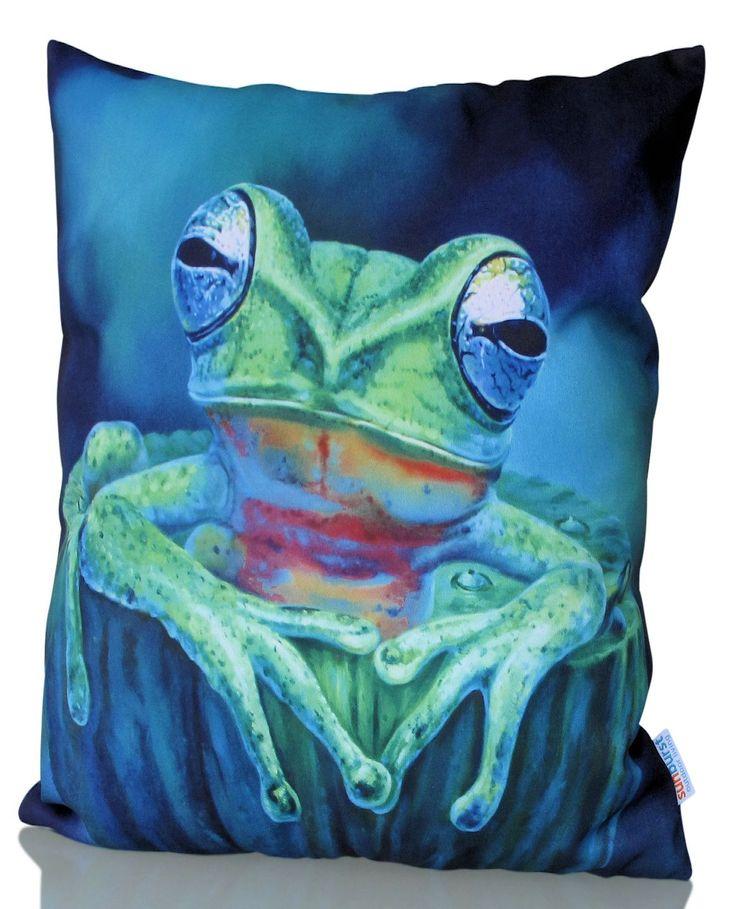 Kermit Cushion Cover from sunburstoutdoorliving.com